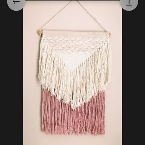 Other - Pink & cream fringe wall decor